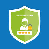 Privacy and security system graphic icons Stock Image