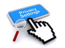 Privacy settings button stock illustration