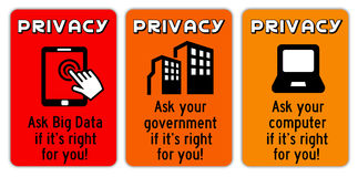 Privacy signs Royalty Free Stock Photography