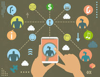 Privacy in social media concept Royalty Free Stock Photo
