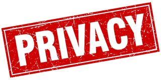 privacy stamp royalty free illustration
