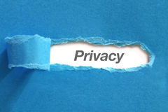 Privacy text on paper Royalty Free Stock Photography