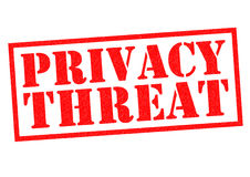 PRIVACY THREAT Royalty Free Stock Image
