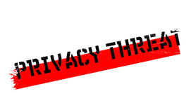 Privacy Threat rubber stamp Royalty Free Stock Photography