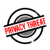 Privacy Threat rubber stamp Stock Photography