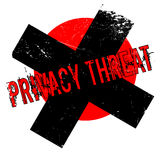 Privacy Threat rubber stamp Royalty Free Stock Photos