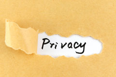 Privacy word Royalty Free Stock Images
