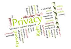 Privacy Word Cloud Royalty Free Stock Image