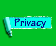 Privacy Word Shows Protection Of Confidential Information Royalty Free Stock Images