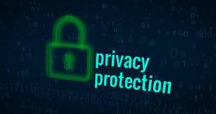 Privacybescherming en cyber veiligheidsconcept Royalty-vrije Stock Afbeeldingen