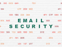 Privacyconcept: E-mailveiligheid op muurachtergrond Royalty-vrije Stock Foto