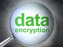 Privacyconcept: Gegevensencryptie met optisch glas Stock Afbeeldingen