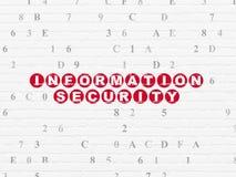 Privacyconcept: Informatiebeveiliging op muur royalty-vrije stock foto