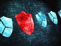 Privacyconcept: op digitale achtergrond Royalty-vrije Stock Foto