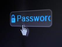 Privacyconcept: Wachtwoord en Gesloten Hangslot  Stock Foto's