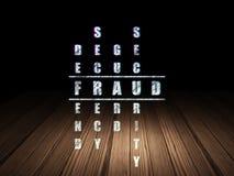 Privacyconcept: woordfraude in het oplossen van Kruiswoordraadsel Stock Afbeeldingen