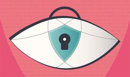 Privacyveiligheid in het World Wide Web stock illustratie
