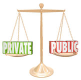 Privado contra a informação pública detalha o secretismo confidencial Foto de Stock