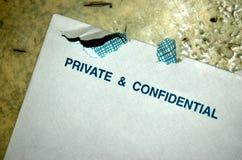 Privado y confidencial Imágenes de archivo libres de regalías