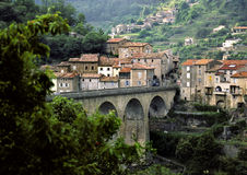 Privas, cidade em France Fotos de Stock Royalty Free