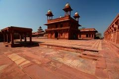 privat åhörarekorridor Fatehpur Sikri Uttar Pradesh india Arkivfoto