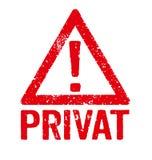 Privat stock abbildung