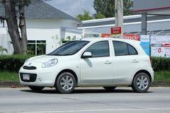 Privat-Eco-Auto, Nissan March Stockfotografie