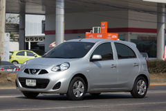 Privat-Eco-Auto Nissan March Lizenzfreie Stockfotos