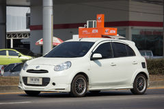 Privat-Eco-Auto Nissan March Stockfoto