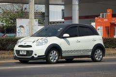 Privat-Eco-Auto Nissan March Stockbild