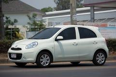 Privat-Eco-Auto Nissan March Lizenzfreies Stockbild
