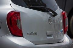 Privat-Eco-Auto Nissan March Lizenzfreies Stockfoto