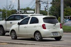 Privat-Eco-Auto Nissan March Lizenzfreie Stockfotografie