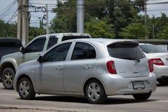 Privat-Eco-Auto Nissan March Lizenzfreie Stockbilder