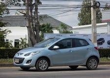 Privat Eco bil Mazda 2 Royaltyfria Bilder