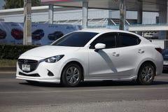Privat Eco bil Mazda 2 Fotografering för Bildbyråer