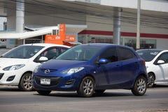 Privat Eco bil Mazda 2 Royaltyfri Fotografi