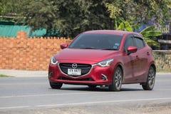 Privat Eco bil Mazda 2 Arkivfoto