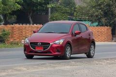 Privat Eco bil Mazda 2 Arkivfoton
