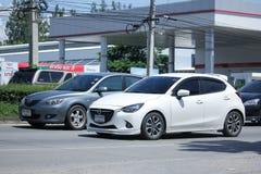 Privat Eco bil, Mazda 2 Arkivbilder