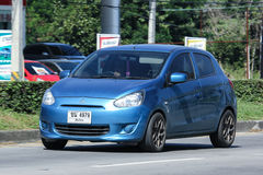 Privat Eco bil, Mitsubishi hägring Arkivfoto