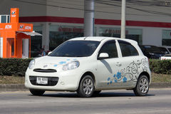 Privat Eco bil, Nissan March Royaltyfri Fotografi