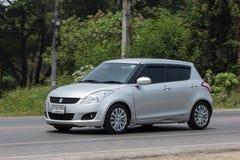 Privat-Eco-Stadt Auto Suzuki Swift Lizenzfreie Stockfotografie
