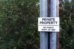 Privat egenskap ingen offentlig rätt av vägtecknet royaltyfria foton