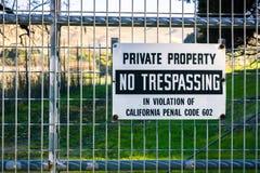 Privat egenskap, inget inkräkta royaltyfri foto