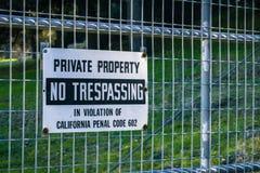 Privat egenskap, inget inkräkta arkivfoto