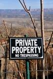 Privat egenskap och inget inkräkta tecken Royaltyfri Foto