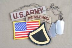 Privat första klass för USA-ARMÉ Arkivfoto