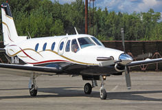 privat flygplan Arkivfoto