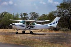 privat flygplan Arkivbild